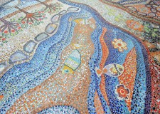 La Visione di Ezichiele 'cala' sul pavimento a Ravenna.