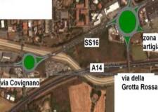 Completamento della rotatoria della SS16 con via della Fiera e via della Grotta Rossa: si entra nella fase cruciale.