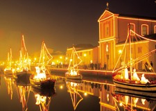 A Cesenatico il presepe sulle barche. Un Natale unico al mondo