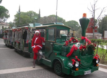 In trenino al mercatino di Natale di Savignano sul Rubicone