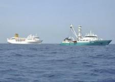 L'Allegra verso il porto di Mahé. Arrivo previsto per domani mattina, a bassa velocità.
