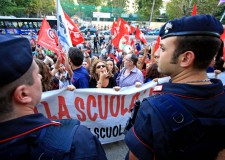 Emilia Romagna. La protesta ( 24 febbraio) dei Precari della scuola Ravenna.