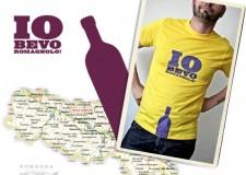 Nuova grafica per la t-shirt 'Iobevoromagnolo'. Il vino incontra la creatività