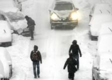 Emergenza Neve. Automobilisti bloccati dalla neve a Rimini, soccorsi dalla Polizia Municipale