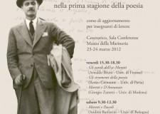 Cesenatico. Seminario su Marino Moretti, nella prima stagione della poesia.