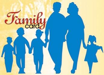 """Rimini. Welfare. Rinnovata anche per il 2016 il progetto """"Family card"""", per acquistare beni di consumo con sconti riservati a famiglie in difficoltà."""
