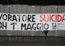 Emilia Romagna. Forlì, striscione 'choc' firmato 'Blu': 'Buon 1 Maggio, lavoratore suicidato'!