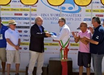 Riccione, ieri l'ultima gara per i Campionati del mondo master di nuoto.