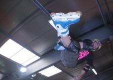 Pattinaggio Acrobatico. Davide Giannoni sul podio del 'Chewits Xtreme Inline Open'.