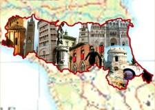 Emilia Romagna. Si passa da 9 a 4 Province, più la Città metropolitana di Bologna.