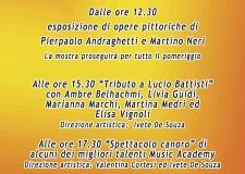 Emilia Romagna. Faenza. Pittura e musica insieme in occasione della Fiera di San Rocco.