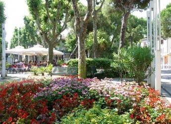 Bellaria Igea Marina. La fiera del gusto.  Dentro tante 'isole' al centro del viale dei Platani.