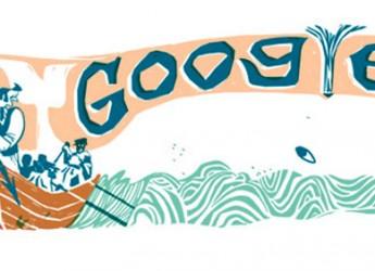 Google dedica un Doodle a Moby Dick. Il romanzo di Herman Melville compie 161 anni.