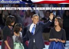 Obama ha vinto, è di nuovo presidente. 'Il meglio deve ancora venire', folla in festa.