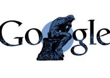 172 anni fa nasceva Auguste Rodin, Google gli dedica un Doodle con 'Il Pensatore'.