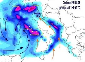 E' arrivato il ciclone Medusa: maltempo da Nord a Sud. Ma stavolta sarà freddo 'vero'.