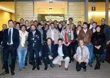 Emilia Romagna. Gruppo Giovani Imprenditori Confindustria Rimini visitano la Technogym a Cesena.