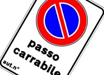 Forlì. Passi carrai, suolo pubblico e pubblicità. Scade il 31 gennaio il termine per il versamento annuale.