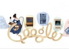 Doodle di Google per il primo programmatore informatico: una donna! Augusta Ada Byron.