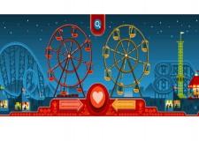 San Valentino panoramico: un Doodle per la ruota panoramica di George Ferris.