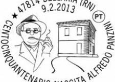 Bellaria Igea Marina. Speciale annullo filatelico per i 150 anni dalla nascita di Alfredo Panzini.