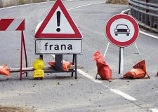 Cesena. Frana in via Montevecchio.