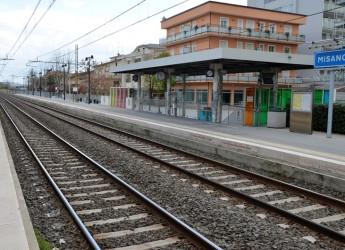 La stazione di Misano Adriatico adatta alla fermata del treno 'Italo'.