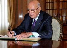 Presidenziali. Eletto il Presidente. Giorgio Napolitano ( 740 voti)  per la seconda volta sul Colle.
