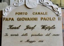 E' a Cervia il primo porto canale intitolato a Papa Giovanni Paolo II.