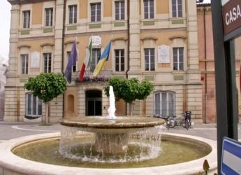 San Mauro Pascoli. In piazza Mazzini si festeggia la Repubblica.