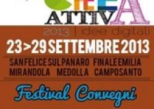 Emilia Romagna. 'CreAttiva 2013′, prima edizione di un festival che dal 23 al 29 settembre proporrà 'idee digitali'.