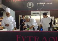Cesena. Orogel e lo chef Andrea Mainardi insieme a Host 2013.