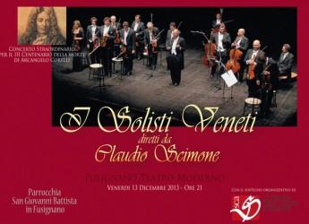 Fusignano. Concerto per il terzo centenario della morte di Arcangelo Corelli.