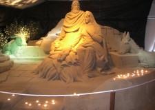 Marina di Ravenna. Inaugura il Presepe di Sabbia.