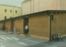 Cesena. Iniziato lo smantellamento dei padiglioni di piazza Auguselli. Torneranno i parcheggi.