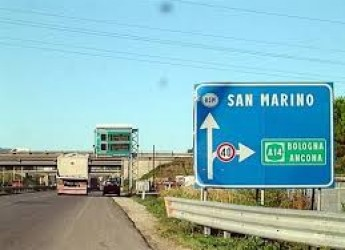 Rimini. S.S. 16 'Adriatica':  seconda fase dei lavori per la sistemazione del ponte sul  Marecchia.