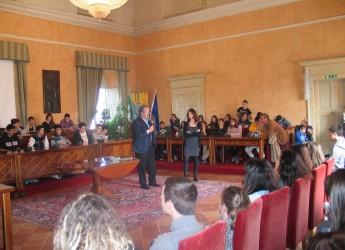 Santarcangelo d/R. In Municipio una delegazione di studenti del liceo 'Rive Gauche' di Tolosa.
