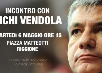 Emilia Romagna. Campagna elettorale SEL, Nichi Vendola a Riccione martedì 6 Maggio alle ore 15:00.