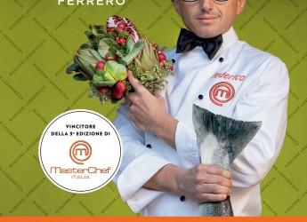 Cucina e Benessere. Nuovo Masterchef Italia incontra il pubblico romano all'enoteca Ferrara.