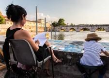 Emilia Romagna.Edizione del Festival del mondo antico da ricordare. Il 'vecchio' ponte di Tiberio.