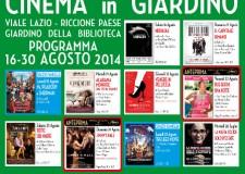 Riccione Cinema in giardino estate 2014.Venerdì 22, spettacolo unico, ore 21,15 'Due giorni, una notte'.