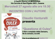 """Dario Fo a Cesena per la presentazione di """"Questione di Culex. Il libro completo della zanzara"""". Mercoledì 27 agosto alle 19.30 al Centro Diurno La Meridiana."""