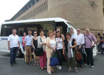 Forlimpopoli: Casa Artusi al Gelato World Tour. Una delegazione di giornalisti a Forlimpopoli con una troupe di Sky News Arabia.