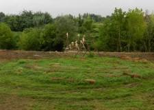 Cotignola: un trebbo all'arena per il futuro del fiume Senio con il pellegrino Alberto Alberti.