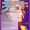 Domenica 9 novembre, al Teatro degli amici: 'Le nozze di Figaro', ossia la folle giornata.
