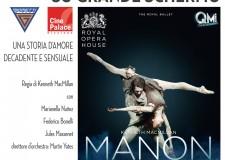 Riccione. Al CinePalace con 'Manon' ritorna la Grande Danza sul grande schermo. Giovedì 16 in diretta dalla Royal Opera House di Londra.