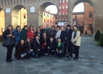 Forlimpopoli. Delegazione kazaka in visita a Casa Artusi.