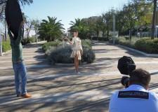 Riccione.l nuovo lungomare scelto dalla stilista internazionale Porscia Yeganeh come set fotografico per la sua esclusiva collezione di abiti e accessori.