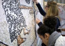 Ravenna. A Milano i mosaici curati dagli studenti ravennati per l'Expo 2015.