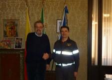 Ravenna. Il sindaco Matteucci incontra il nuovo comandante dei Vigili del Fuoco.